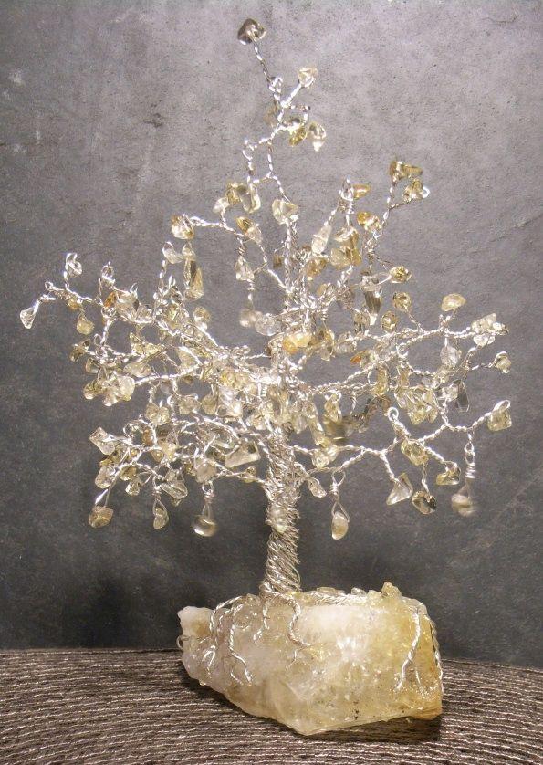 A Citrine Tree on Rock.