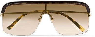 5768d3bb830 Cutler and Gross - D-frame Gold-tone And Acetate Sunglasses - Brown ...
