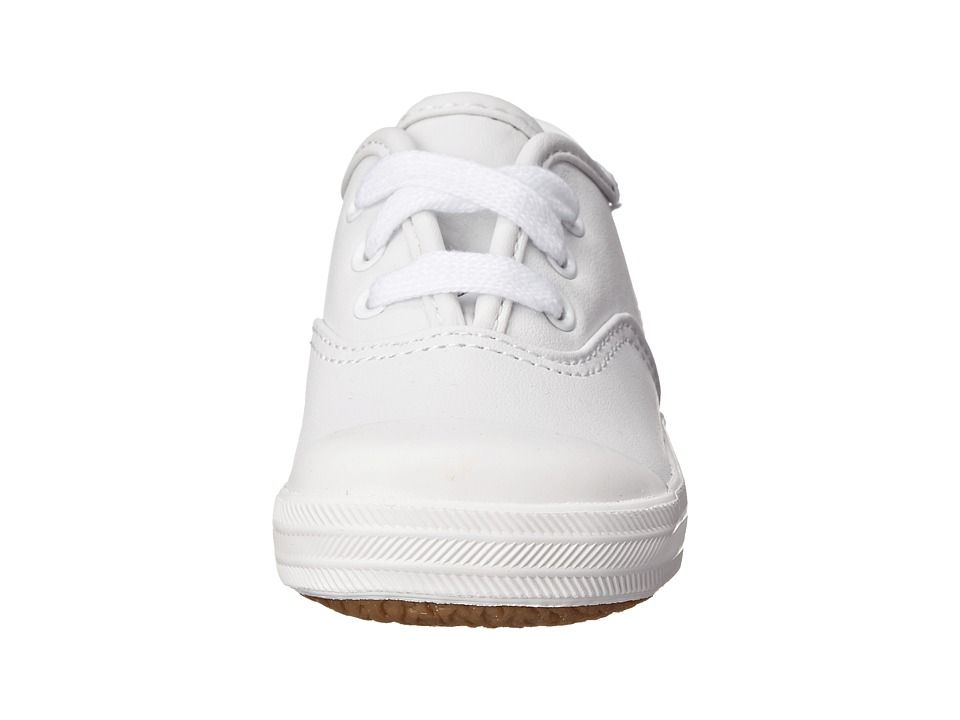 fcf9365122c Keds Kids Champion Lace Toe Cap 2 (Toddler) Girls Shoes White Leather