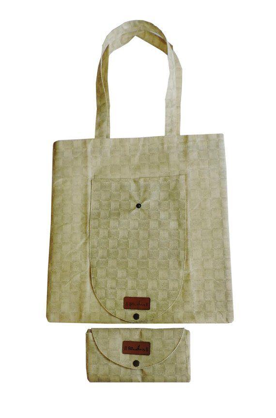 64abe3c736 Folding Tote Bag (set of 5), Shopping Bag , Foldable Bag , Totes Bag , Purse  bag, reusable bag, groc