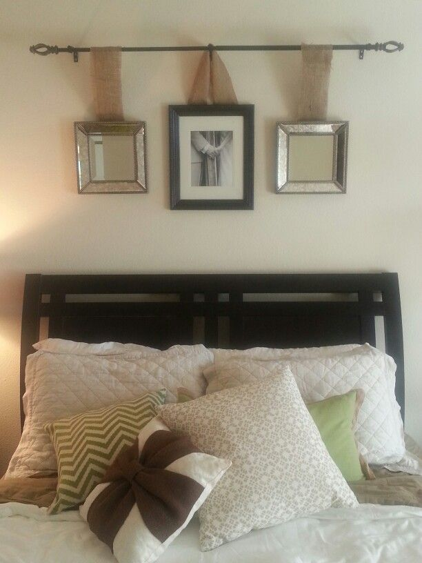 Master bedroom decor thinking of having our wedding - Over the bed wall decor ideas ...