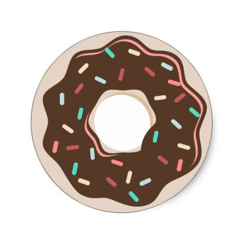 Donut celebration thank you stickers