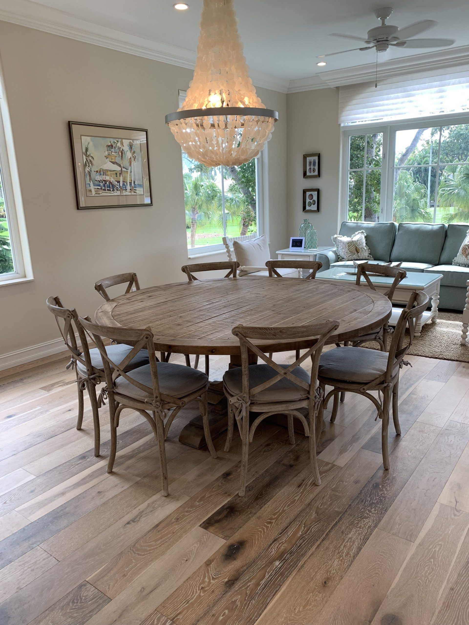Round 8 Person Dining Table Perfect For My Square Space Round Dining Room Table Round Dining Room Sets Round Dining Room