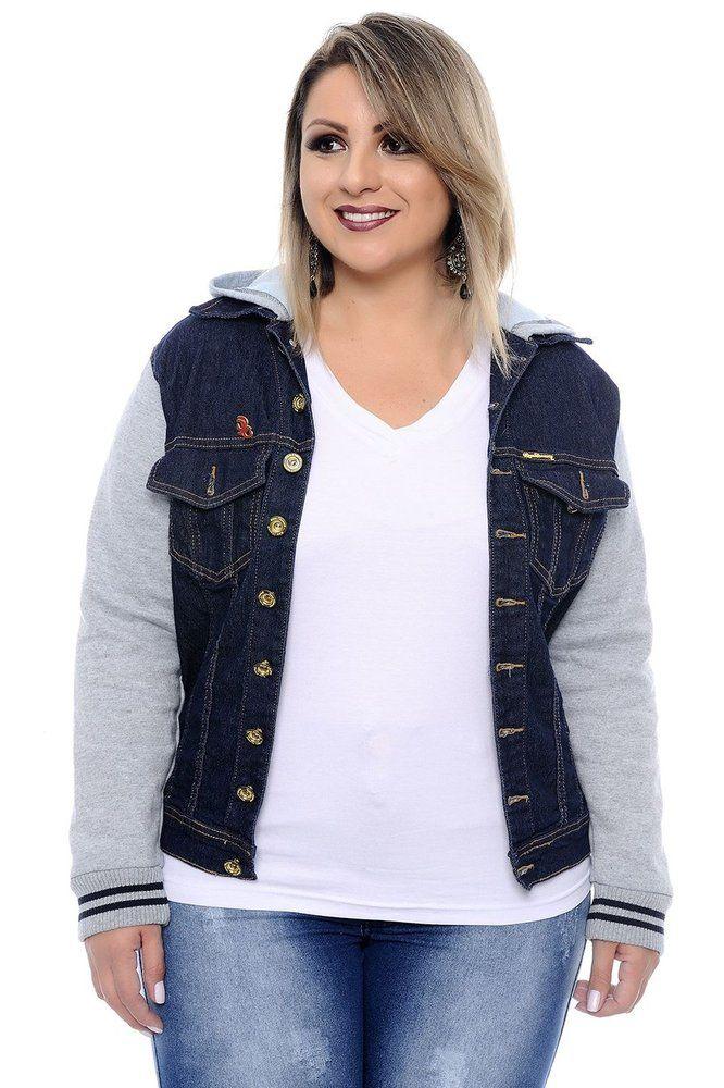 d5f69a704 Jaqueta Jeans Plus Size Velma | Daluz Plus Size - Loja Online - Daluz Plus  Size | A loja online Plus Size que mais cresce no Brasil!