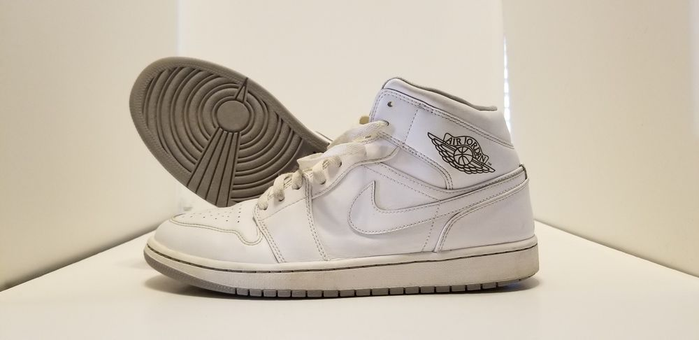 more photos e1c6b 75473 Air Jordan 1 White 554724-112 2015 Men s Size 10 EUC very clean!  fashion   clothing  shoes  accessories  mensshoes  athleticshoes (ebay link)