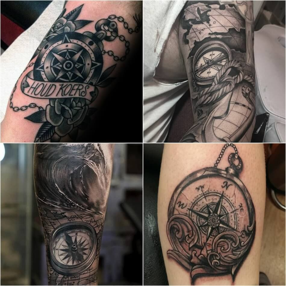 Compass Tattoo Designs - Popular Ideas for Compass Tattoos with Meaning