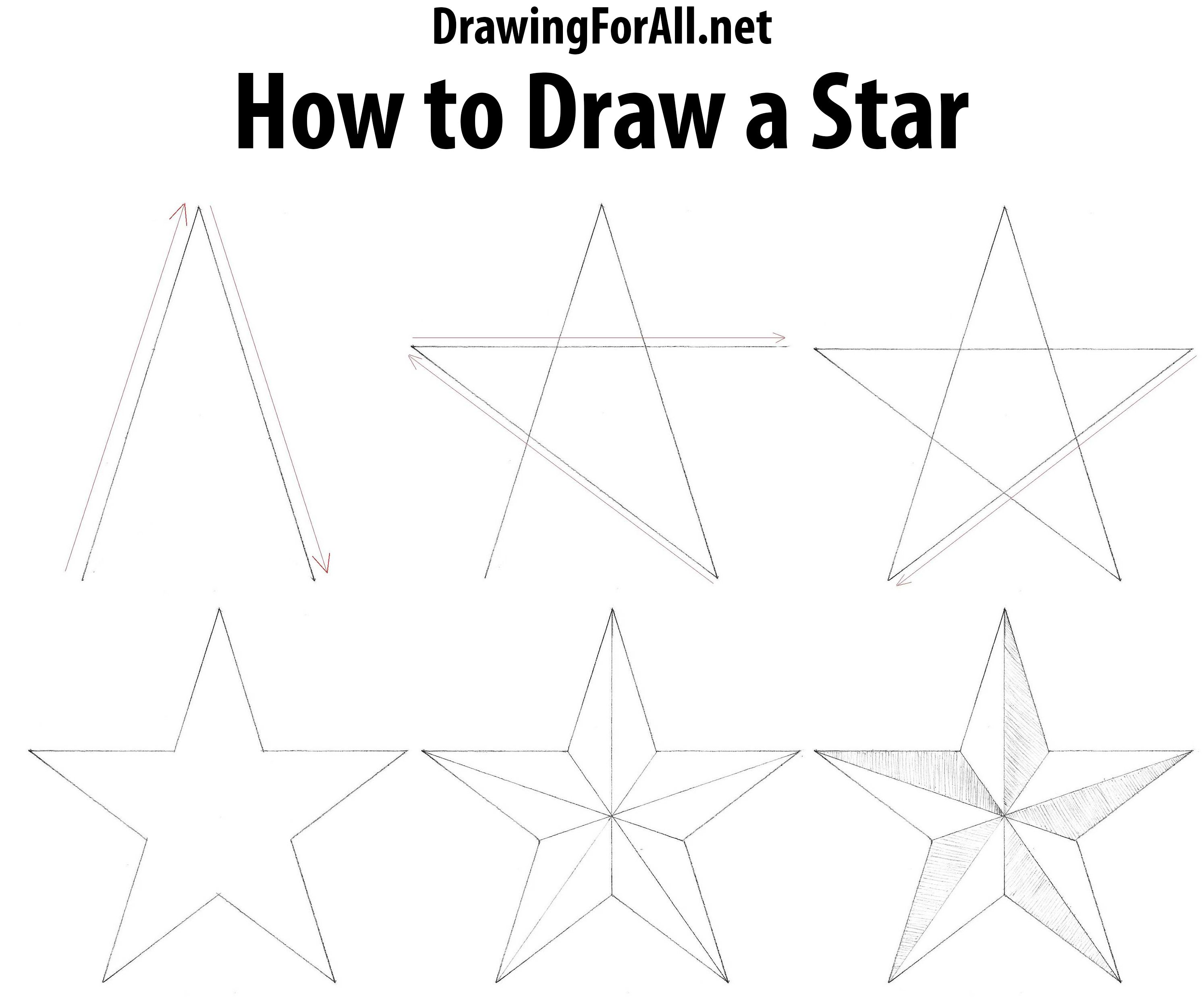 How To Draw A Star Drawing Stars Drawing Tutorial Drawings