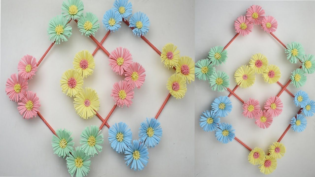 Diy Hanging Flower Paper Flower Wall Hanging Wall Decoration