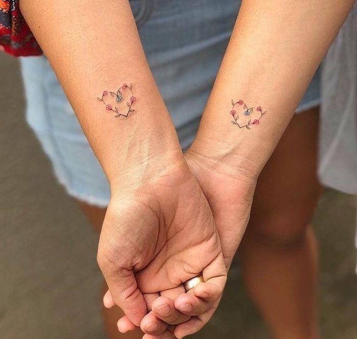 Schwestern Tattoo Klein