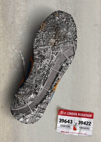I Believe in Advertising | ONLY SELECTED ADVERTISING | Advertising Blog & Community » Reflex Spray: Berlin Marathon, London Marathon, New York Marathon