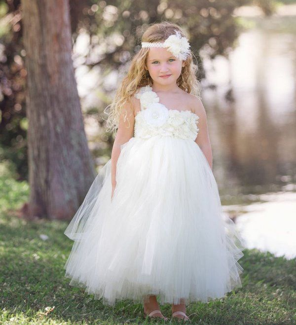 All Ivory Sweet Flower Girls Tutu Dress | Stuff to Buy | Pinterest ...