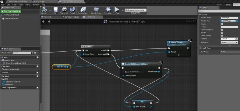 Add a UMG Widget to your HUD   Unreal Engine   Game mechanics, Game