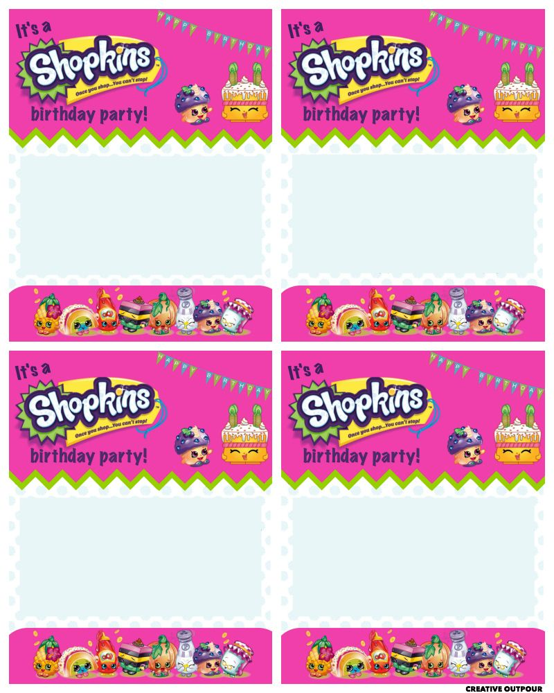 A Shopkins Birthday Party Creative Outpour For Future Use - Blank shopkins birthday invitations
