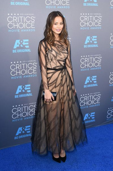 Jamie Chung in Yanina Couture