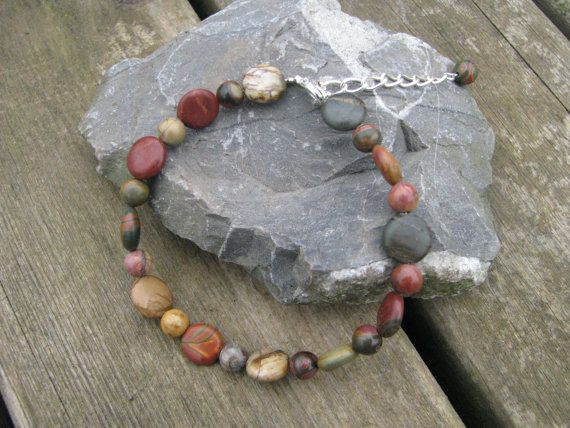 Picture and picasso jasper bracelet by madebymemadeforyou on Etsy, $37.00