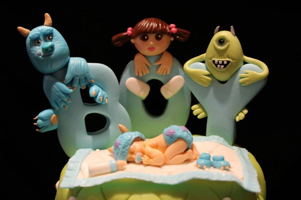 Monsters Inc Baby Shower Cake Topper by NaomisCustomDesigns on Etsy