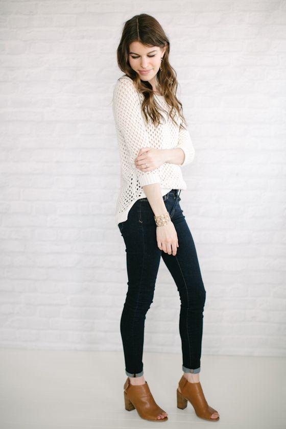 Neutrals + Dark Jeans
