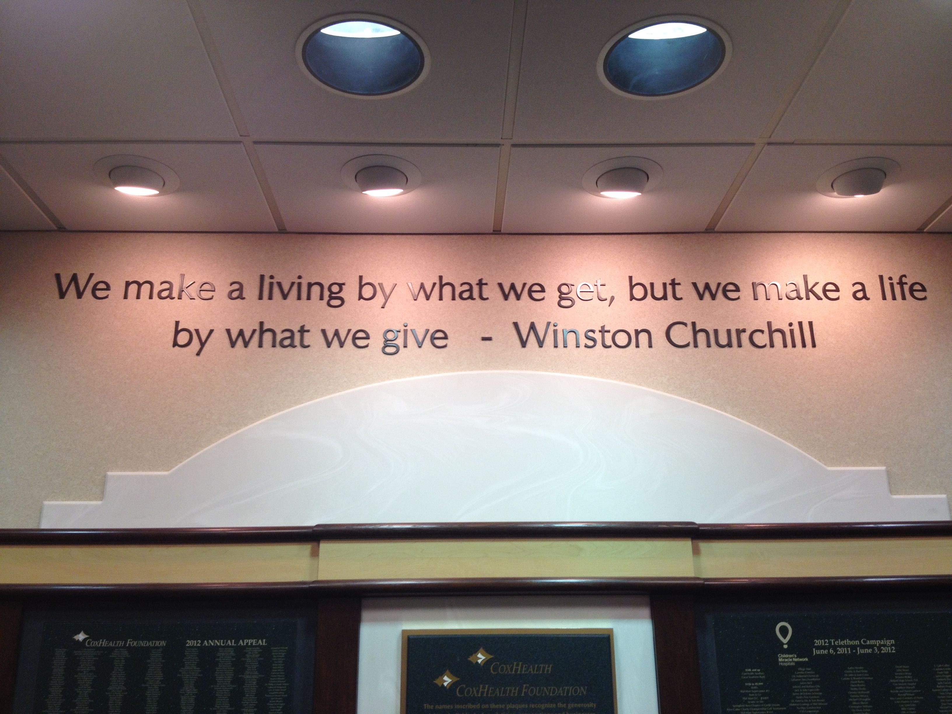 I took this picture at the Cox South hospital in Springfield, Missouri. Love Winston.