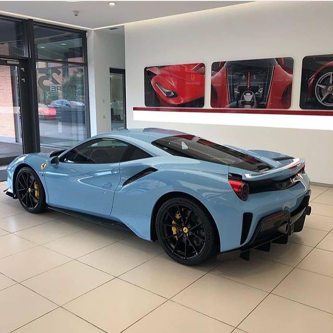 Baby Blue Ferrari Ferrari Luxury Cars High Performance Cars