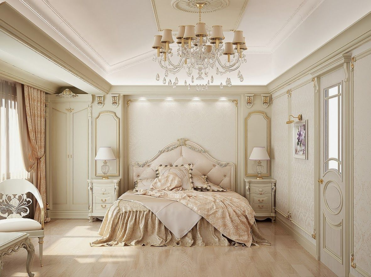 French Inspired Elegant Bedroom Bedroom Decor