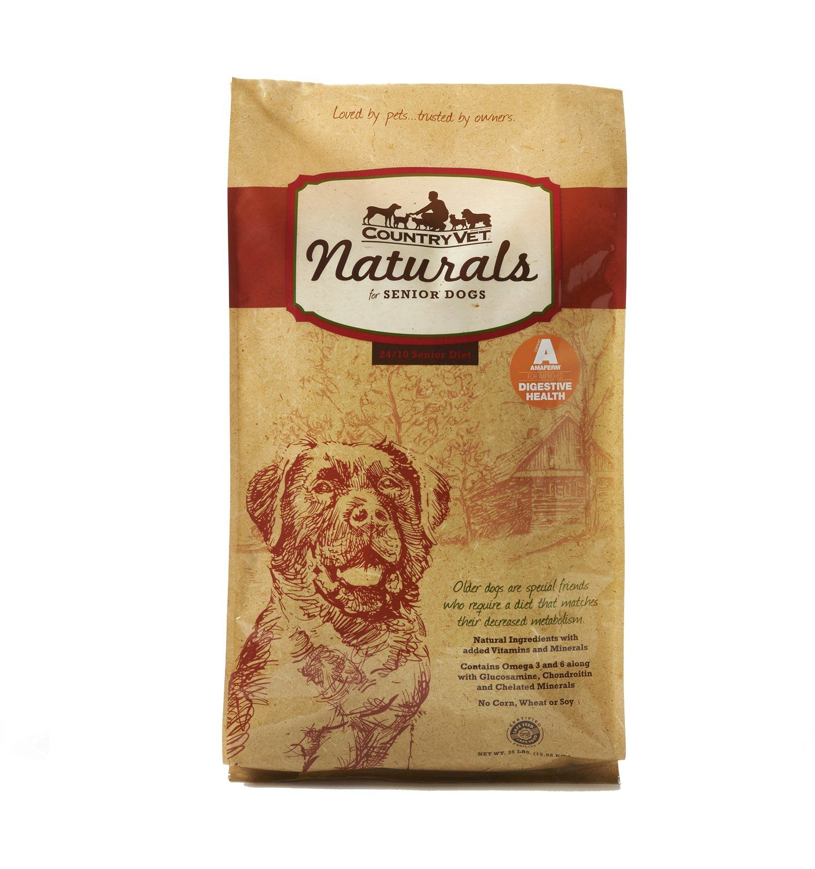 Country Vet Naturals Senior 24 10 Protein Formula Probiotic Dog
