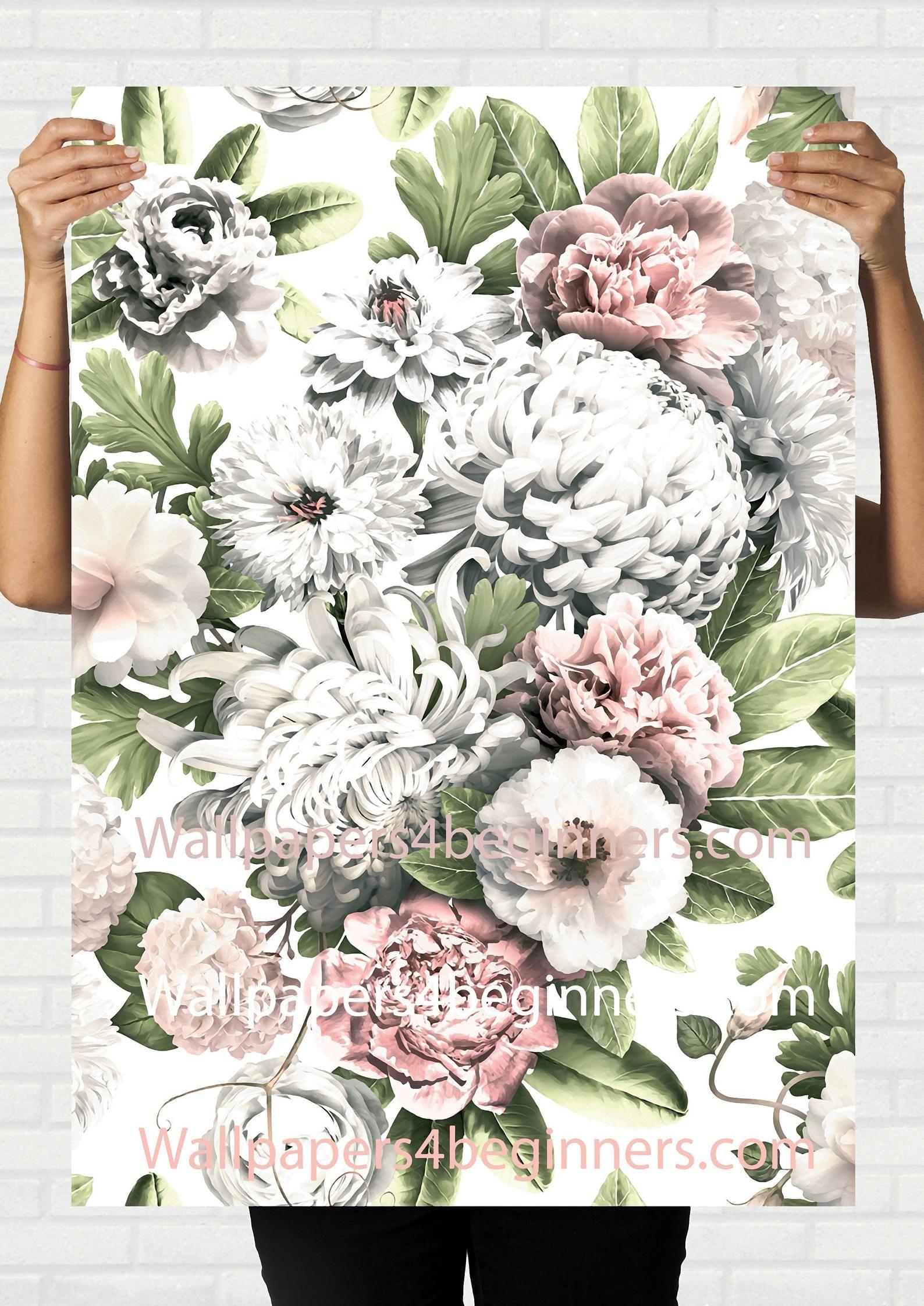 Light Floral Wallpaper Peonies Floral Wallpaper Peony Wallpaper
