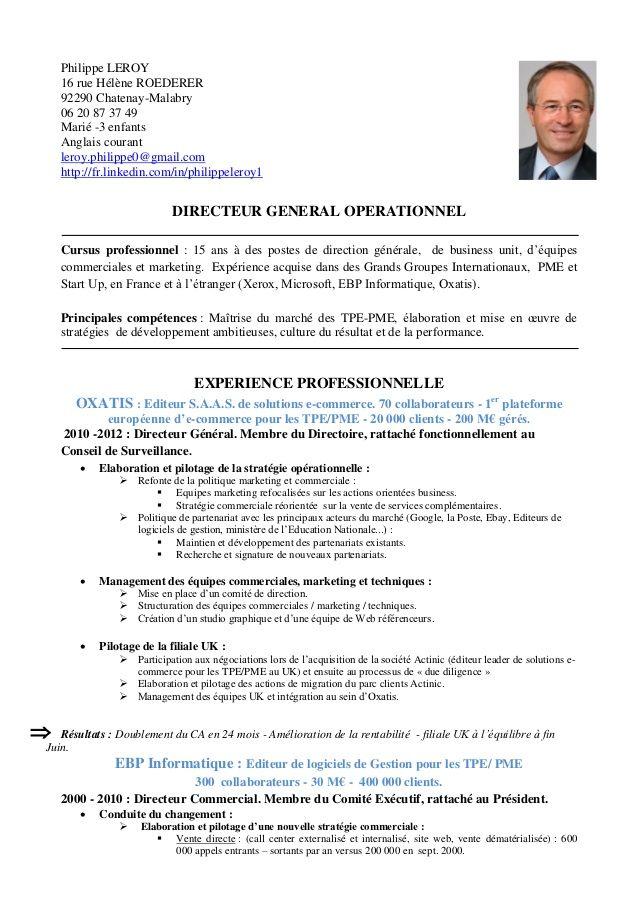Cv En Francais 01 10 12 Cv Francais Exemple Cv Francais Cv Cadre