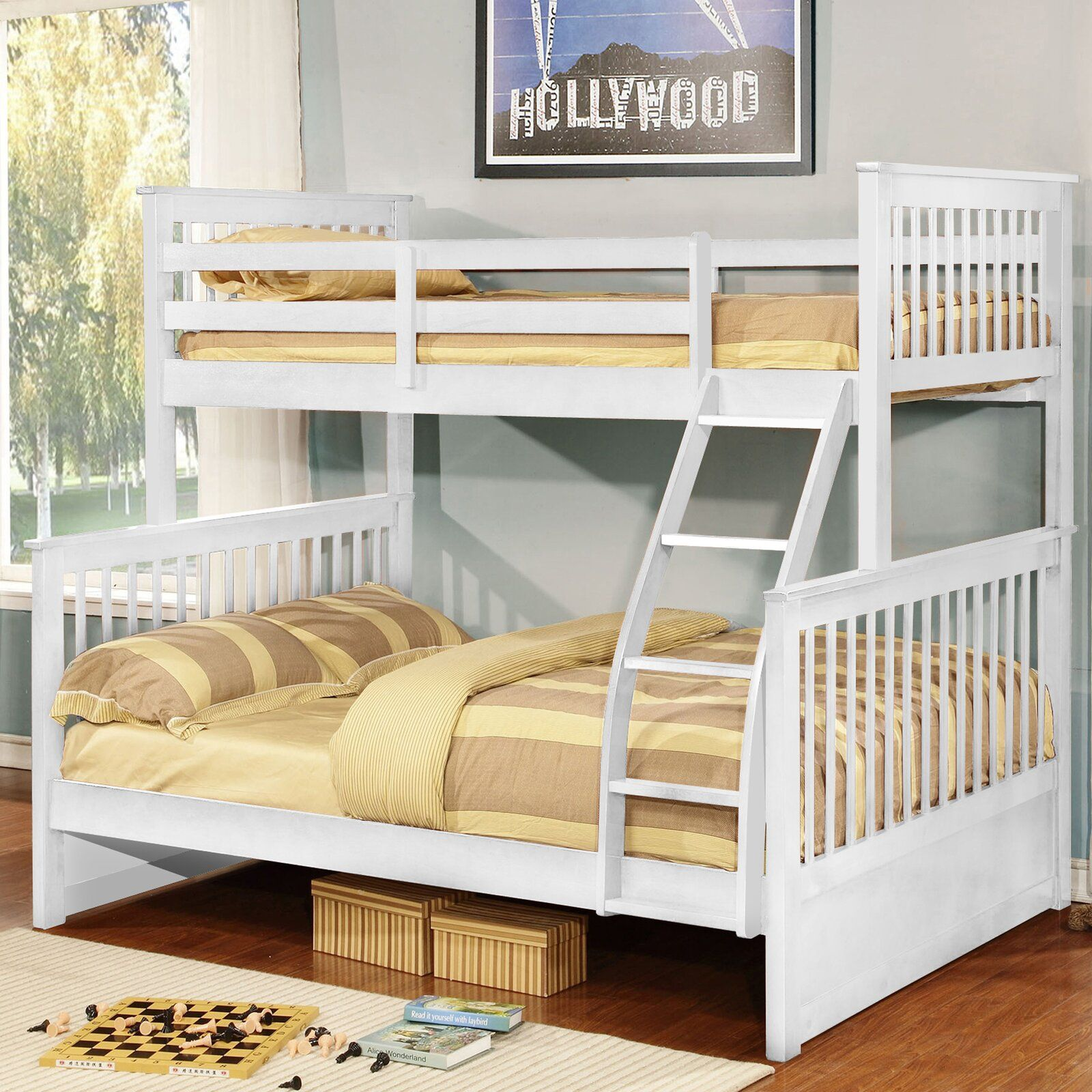 Warmley Twin Over Full Bunk Bed In 2020 Full Bunk Beds Bunk Beds Bunk Beds With Storage