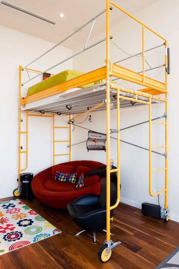 Sensational space saving suspended beds for creative bedrooms