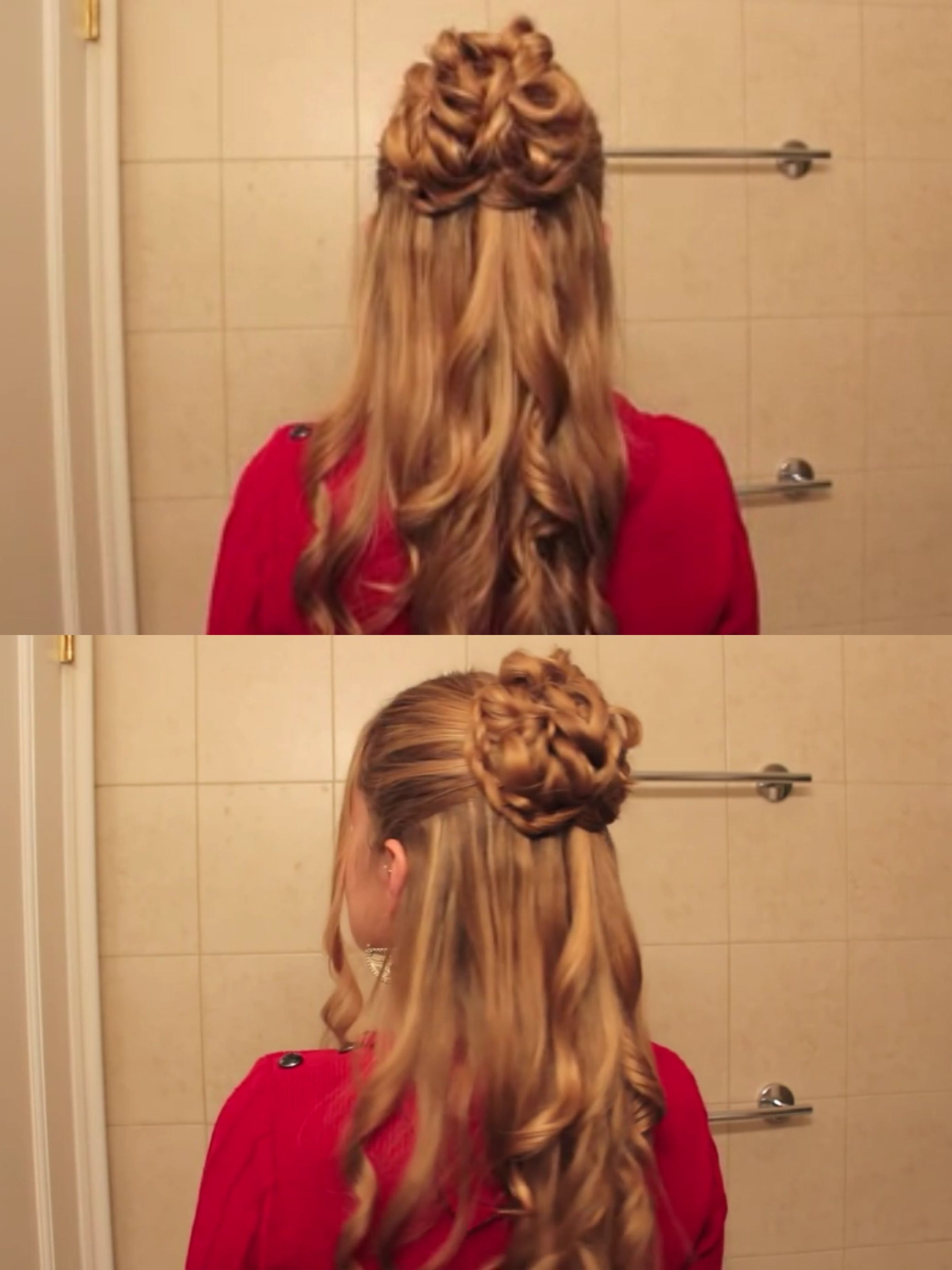 pin by colleen catherine on hairs | hair styles, hair, half updo