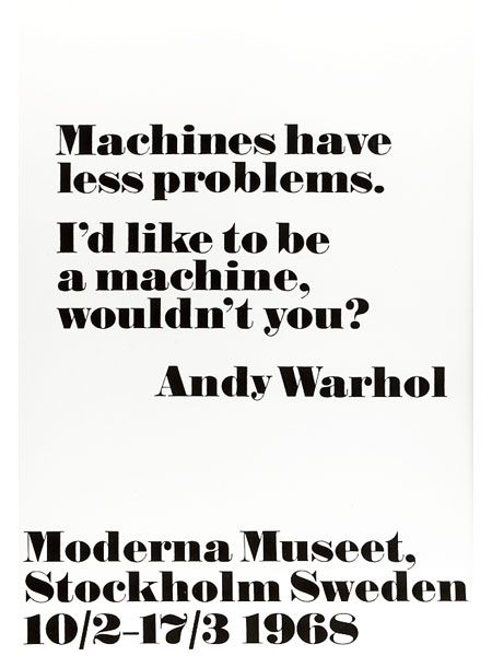 Andy Warhol I27d Like To Be A Machine Small Teksten