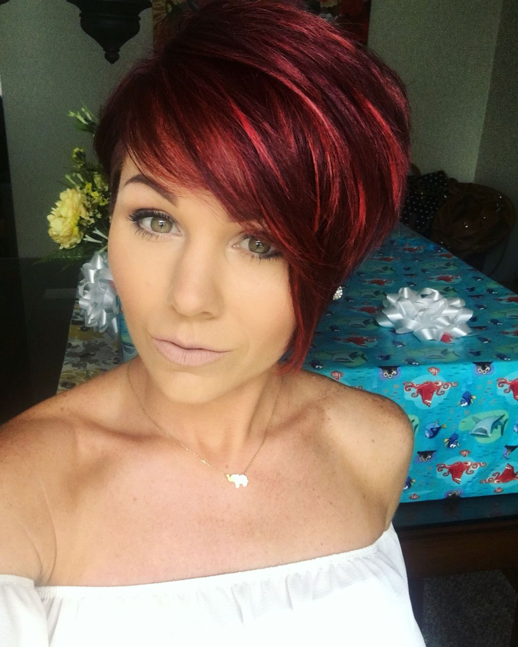 Redhair pixie shorthair hair and make up pinterest pixies