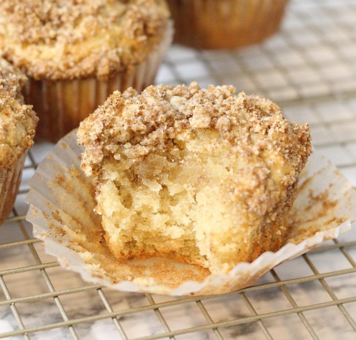 Paleo Sour Cream Coffee Cake Muffins {gluten & grain free
