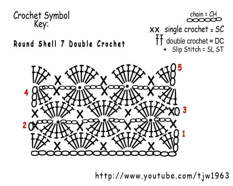 ao with <3 / Round Shell stitch for Harlequin pattern | Wzory ...