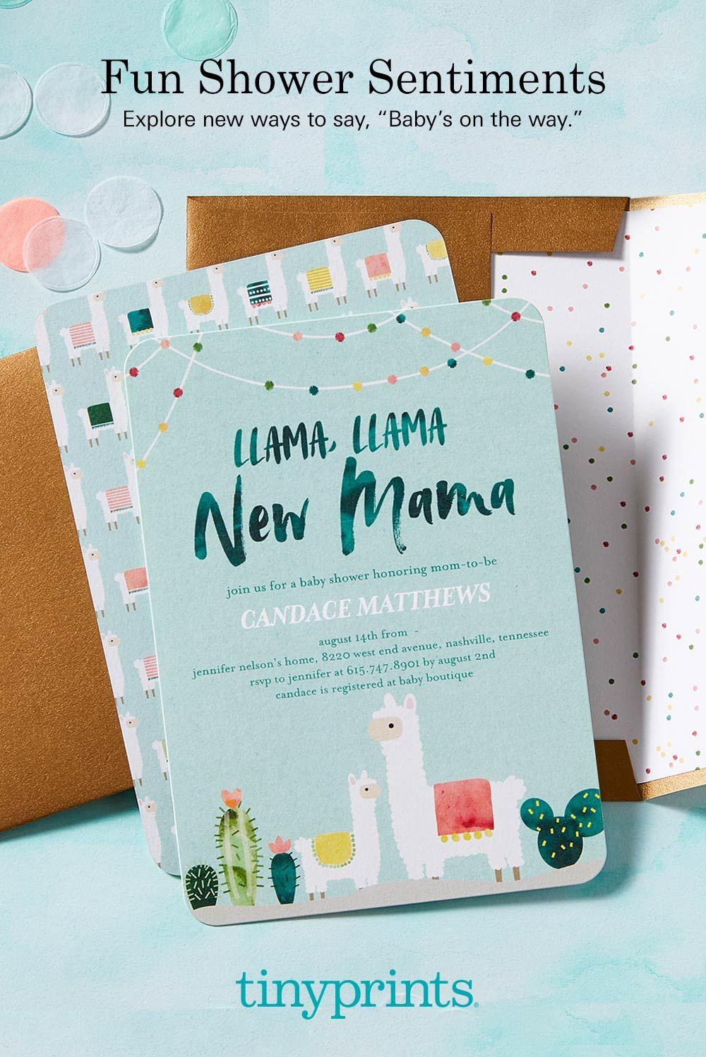 Llama Mama 5x7 Stationery Card By Ann Kelle Baby Showers Baby