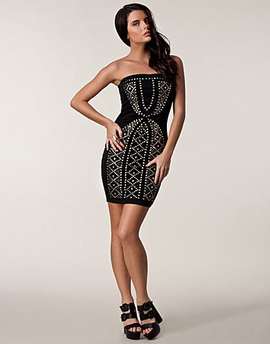 PARTY DRESSES - THREE LITTLE WORDS / BODYCONE STUDS DRESS - NELLY.COM