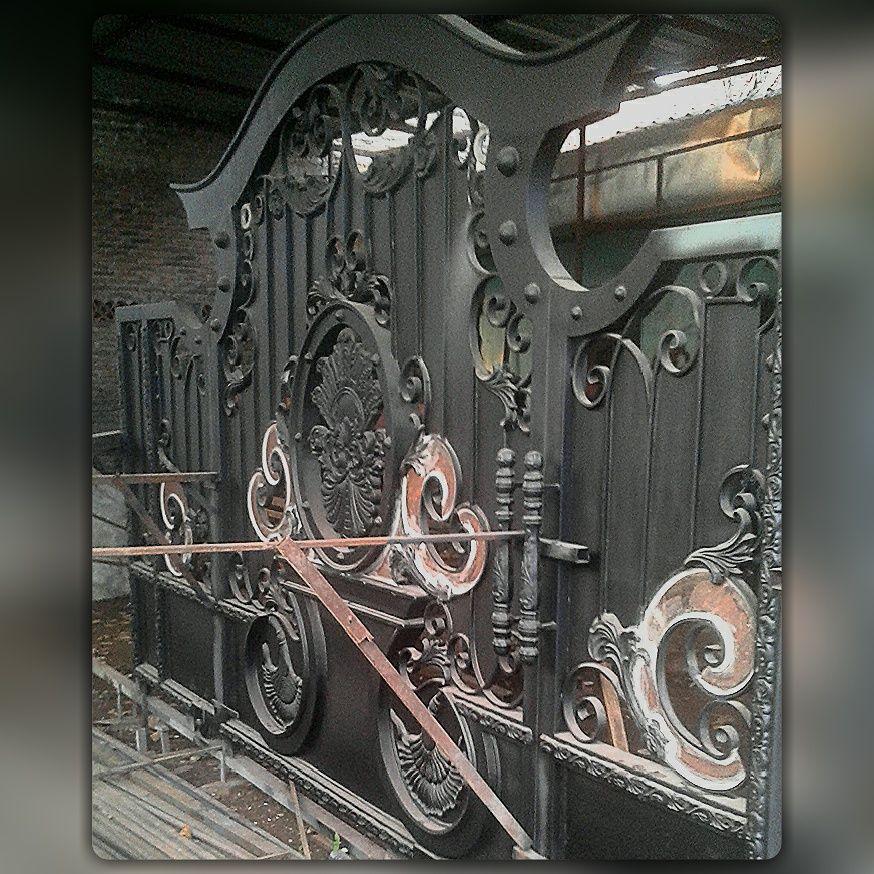 Gerbang Besi Tempa Klasik Klasik Pintu Besi