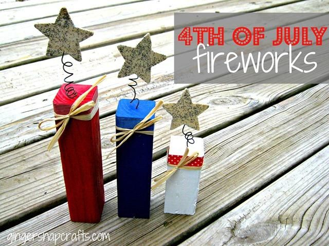 DIY 4th of July firecrackers