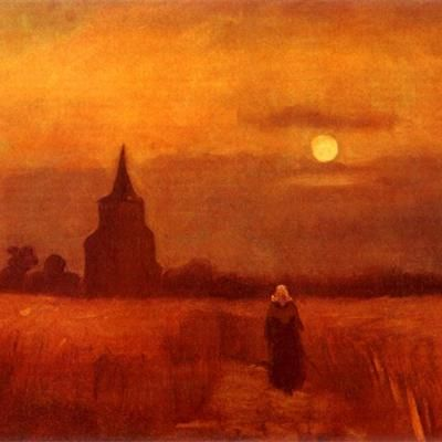 The Old Tower in the Fields painted byVincent van Gogh in 1884