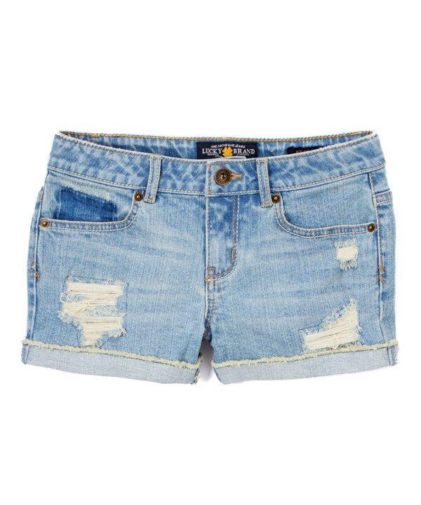 Look at this Rip & Repair Riley Shorts - Girls on #zulily today!