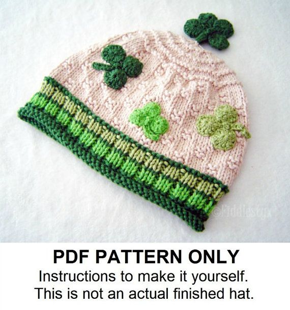 Knitted Hat Pattern Baby Hat Pattern Knitted Irish Beanie Knitted