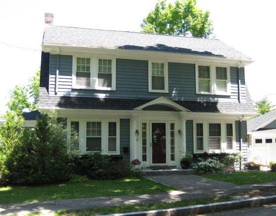 Dutch Colonial Revival House In Arlington Ma Dutch Colonial Homes Colonial House Plans Colonial House