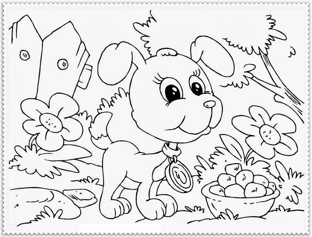 Dog Coloring Pages Free for Kids and Adults | Puppy ...