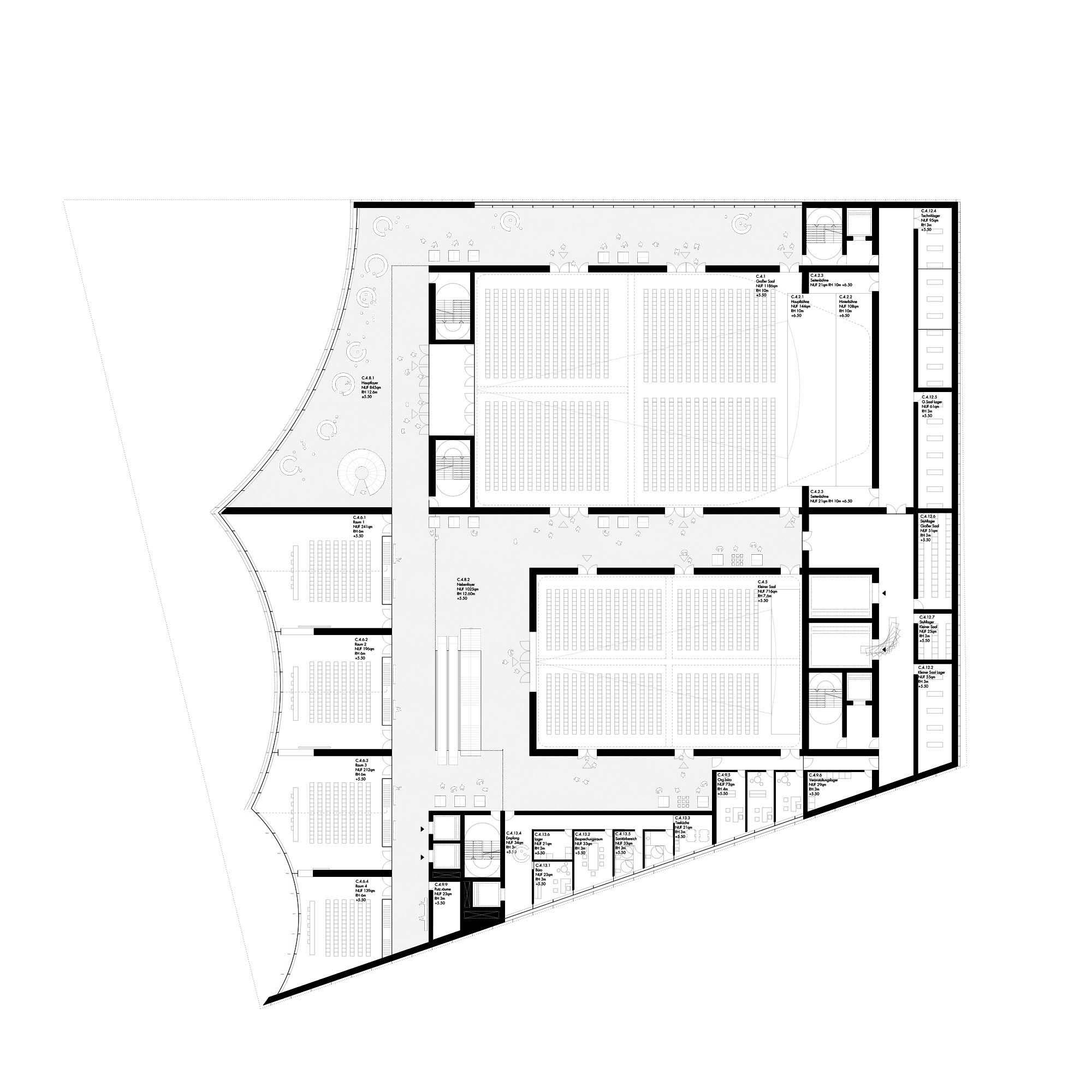 2. Preis Grundriss, © Nieto Sobejano Arquitectos (mit