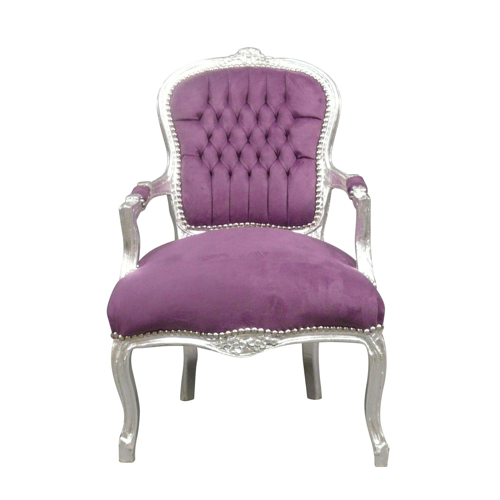 Chambre Baroque Noir Et Violet fauteuil louis xv mauve - fauteuil louis xv baroque