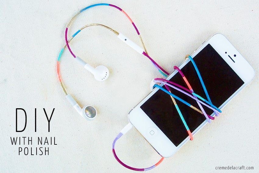 DIY: Nail Polish Colored Headphones