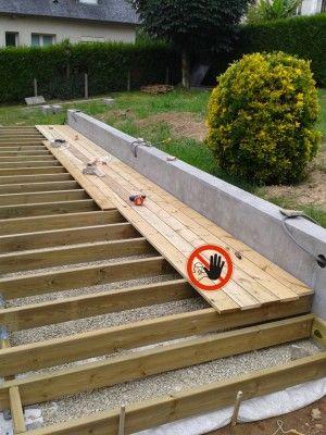 terrasse-bois-lambourde-bitumineuse Bricolage Pinterest - terrasse bois sur plots reglables