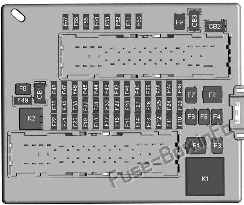 Trunk fuse box diagram: Chevrolet Camaro (2016, 2017 ...