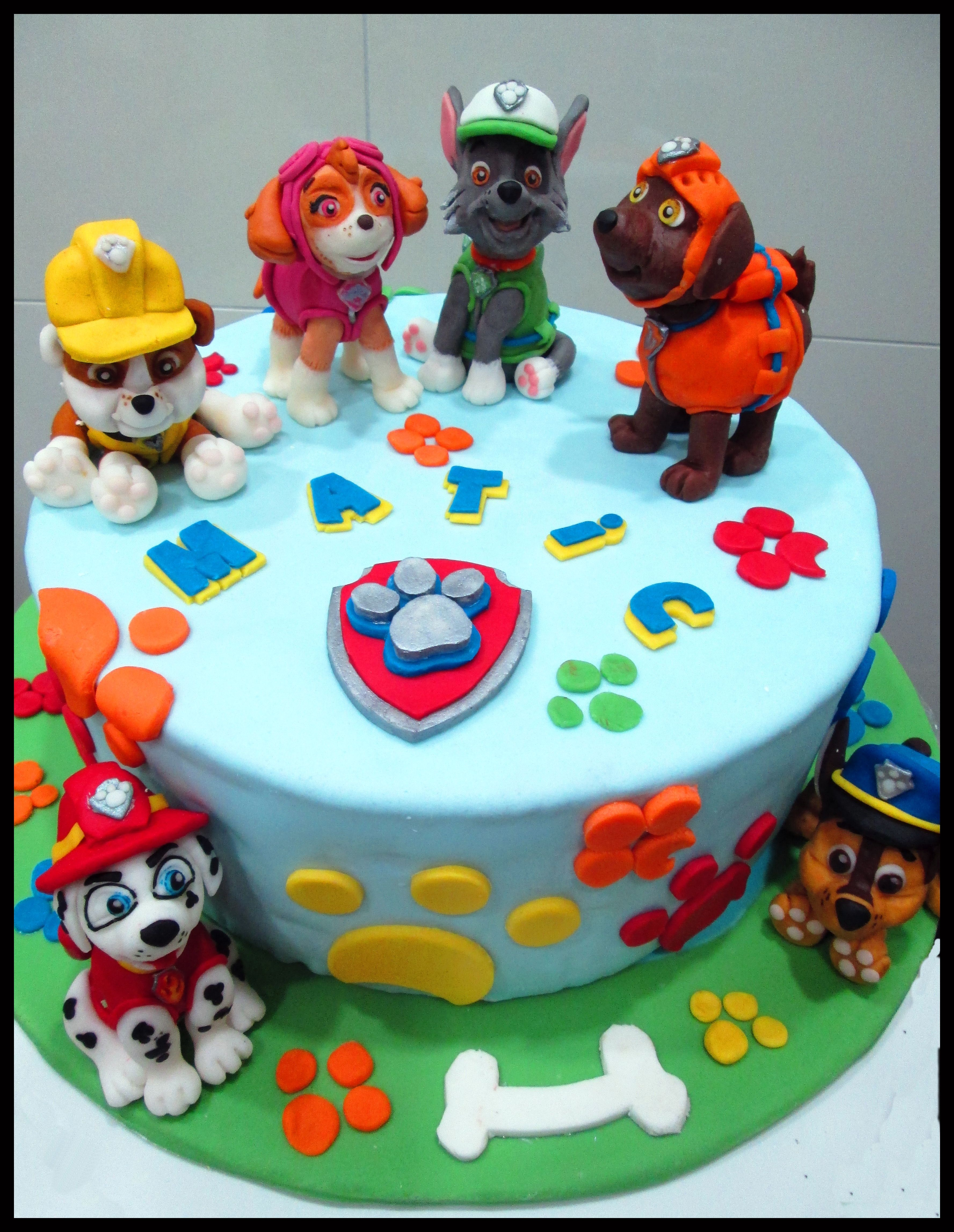 Paw Patrol Cake Figurines From Modelling Chocolate Birthday - Birthday cake figurines