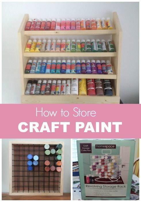 How to store craft paint diy craft room storage craft - Supplies needed to paint a room ...
